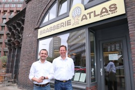 Die Brasserie Atlas in den Räumen des Weltkulturerbes